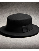 cheap Men's Ties & Bow Ties-men's polyester fedora hat - solid colored