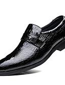 preiswerte Kleider in Übergröße-Herrn Formal Schuhe Leder Frühling Geschäftlich Loafers & Slip-Ons Schwarz