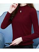 ieftine Tricou-Pentru femei Stil Nautic Tricou Bumbac Mată