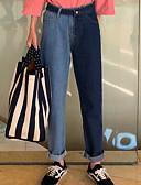 ieftine Pantaloni de Damă-Pentru femei Talie Înaltă Blugi Pantaloni Bloc Culoare