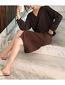 tanie Dwuczęściowe komplety damskie-Damskie Sweter Solidne kolory Spódnica