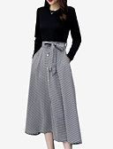 cheap Wedding Dresses-Women's Going out Basic Two Piece Dress - Solid Colored Black XXXL 4XL XXXXXL