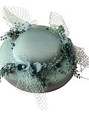 cheap Party Headpieces-Fabrics Hats / Headwear with Floral 1 Piece Wedding / Special Occasion Headpiece