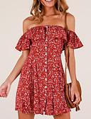 tanie Sukienki-Damskie Szczupła Pochwa Sukienka Z odsłoniętymi ramionami Nad kolano