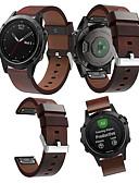 hesapli Smartwatch Bantları-Watch Band için Fenix 5 / Fenix 5 Plus / Garmin Quatix 5 Garmin Spor Bantları Deri Bilek Askısı
