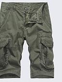 povoljno Muške duge i kratke hlače-Muškarci Pamuk Chinos / Kratke hlače Hlače - Jednobojni Kolaž Sive boje / Ljeto