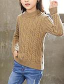 povoljno Majice za djevojčice-Djeca Djevojčice Jednobojni / Žakard Dugih rukava Džemper i kardigan