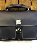 cheap Women's Coats & Trench Coats-Women's Bags Cowhide Briefcase Buttons Black / Coffee