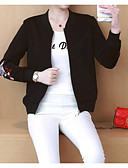 povoljno Ženski kaputi-Žene Dnevno Normalne dužine Baloner, Houndstooth Ruska kragna Dugih rukava Poliester Crn / Red L / XL / XXL