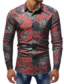 cheap Men's Exotic Underwear-Men's Shirt - Floral / Color Block Print