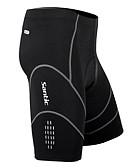 olcso Női kalapok-SANTIC Férfi Kerékpáros bélelt nadrág - Fekete Bike Rövidnadrágok / Bélelt nadrág, 3D-s párna, Gyors szárítás, Légáteresztő Spandex, Coolmax® / Nagy rugalmasságú / Modern varrási technikák