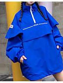 povoljno Prsluci-Žene Dnevno Vintage Normalne dužine Jakna, Jednobojni Okrugli izrez Dugih rukava Akril / Poliester Žakard Plava / Obala One-Size
