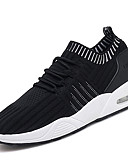 זול שעוני יוקרה-בגדי ריקוד גברים סריגה / PU סתיו נוחות נעלי אתלטיקה ריצה / הליכה שחור / אפור / אדום