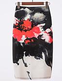 tanie Damska spódnica-Damskie Podstawowy Bodycon Spódnice Kolorowy blok