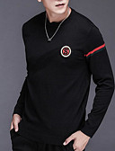 cheap Men's Sweaters & Cardigans-Men's Weekend Long Sleeve Slim Pullover - Letter Round Neck
