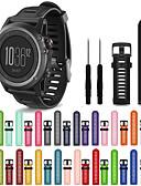 זול להקות Smartwatch-צפו בנד ל Fenix 3 HR / Fenix 3 Sapphire / Fenix 3 Garmin רצועת ספורט סיליקוןריצה רצועת יד לספורט