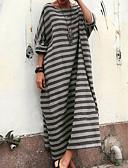 זול שמלות נשים-מקסי שמלה ישרה / טישרט גדול חוף בגדי ריקוד נשים