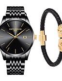 ieftine Ceasuri de Lux-Bărbați Ceas Elegant  Japoneză Quartz 30 m Rezistent la Apă Calendar Cronograf Oțel inoxidabil Bandă Analog Lux Elegant Negru / Argint - Negru și Auriu Aur / alb Negru / Argintiu Doi ani Durată de