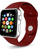 hesapli Saat Aksesuarları-Silika Jel Watch Band kayış için Apple Watch Series 3 / 2 / 1 Beyaz / Turuncu / Gri 23cm / 9 inç 2.1cm / 0.83 İnç