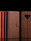 hesapli Cep Telefonu Kılıfları-Pouzdro Uyumluluk Samsung Galaxy Note 9 / Note 8 Cüzdan / Kart Tutucu / Satandlı Tam Kaplama Kılıf Solid Sert PU Deri