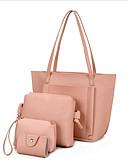 cheap Women's Down & Parkas-Women's Bags PU(Polyurethane) Bag Set 4 Pieces Purse Set Zipper Brown / Light Grey / Wine