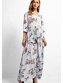 cheap Women's Blouses-Women's Going out / Beach Swing Dress Maxi V Neck