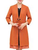 olcso Női viharkabátok-női hosszú kabát - szilárd színű