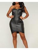 tanie Sukienki-Damskie Vintage Szczupła Spodnie - Solidne kolory Czarny / Bez ramiączek / Mała czarna / Wyjściowe