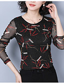 cheap Women's Blouses-women's blouse - floral round neck