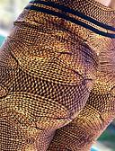 preiswerte Modische Unterwäsche-Damen Yoga-Hose - Kaffee Sport Druck Elasthan Hohe Hüfthöhe Strumpfhosen / Lange Radhose / Leggins Tanz, Laufen, Fitness Sportkleidung Videokompression, Kolbenheber, Tummy Control Dehnbar Skinny