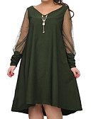cheap Women's Dresses-Women's Plus Size Going out A Line Dress - Solid Colored Black