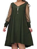 tanie Sukienki-Damskie Puszysta Spodnie - Solidne kolory Czarny Zielony / Wyjściowe
