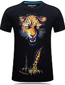 cheap Men's Tees & Tank Tops-Men's Street chic T-shirt - Animal Print