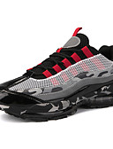 cheap Women's Pants-Men's Comfort Shoes Mesh Fall Sporty / Casual Athletic Shoes Running Shoes Gold / Black / Black / Red
