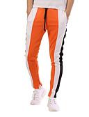 abordables Camisetas y Tops de Hombre-Hombre Básico / Chic de Calle Algodón Delgado Pantalones de Deporte Pantalones - Bloques Negro / Deportes