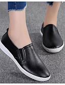 hesapli Kadın Etekleri-Kadın's Ayakkabı Tüylü Sonbahar Mokasen & Bağcıksız Ayakkabılar Düz Taban Günlük için Beyaz / Siyah / Açık Mavi