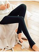 billige Leggings-Dame Daglig Basale Legging - Ensfarvet Medium Talje