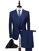 povoljno Odijela-Jednobojni Kroj po mjeri Poliester Odijelo - Šiljasti Droit 1 bouton / odijela