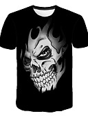 cheap Men's Shirts-Men's Active / Street chic T-shirt - Skull Print