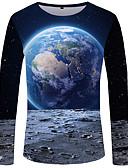 Χαμηλού Κόστους Ανδρικά μπλουζάκια και φανελάκια-Ανδρικά T-shirt Μπόχο / Κομψό στυλ street Συνδυασμός Χρωμάτων / 3D Στάμπα