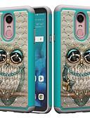 tanie Etui na telefony-Kılıf Na LG K10 2018 / G7 Odporny na wstrząsy / Kryształ górski / Wzór Osłona tylna Sowa / Kryształ górski Twardość PC na LG Stylo 4 / LG G7 ThinQ / LG G6