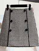 olcso Női pulóverek-Női Ceruza Alkalmi Szoknyák - Színes