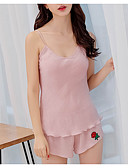 cheap Robes & Sleepwear-Women's Cotton Sexy Suits Nightwear - Backless Solid Colored / Strapless