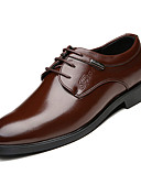 cheap Romantic Lace Dresses-Men's Formal Shoes Cowhide Fall Business Oxfords Breathable Black / Brown