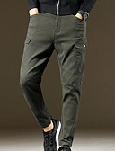 ieftine Pantaloni Bărbați si Pantaloni Scurți-Bărbați De Bază Pantaloni Chinos Pantaloni - Mată Trifoi