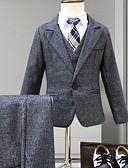 povoljno Kompletići za dječake-Djeca Dječaci Aktivan Jednobojni Dugih rukava Normalne dužine Komplet odjeće Navy Plava
