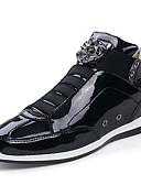 זול טישרטים לגופיות לגברים-בגדי ריקוד גברים נעלי נוחות PU סתיו יום יומי נעלי אתלטיקה ללבוש הוכחה זהב / שחור / כסף