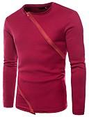 cheap Men's Hoodies & Sweatshirts-Men's Street chic Long Sleeve Sweatshirt - Solid Colored Round Neck White L / Spring / Fall
