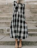 economico Vestiti da donna-Per donna Cotone Linea A Vestito Medio