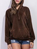 tanie Damskie bluzy z kapturem-Damskie Moda miejska Spodnie - Solidne kolory Brązowy